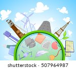 type of renewable and not... | Shutterstock .eps vector #507964987