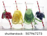 healthy detox water with fruits | Shutterstock . vector #507967273