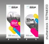 roll up business brochure flyer ... | Shutterstock .eps vector #507968353