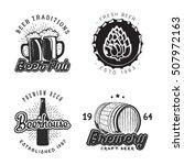 creative beer set of logos... | Shutterstock .eps vector #507972163