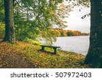 autumn landscape with a small... | Shutterstock . vector #507972403
