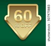 60  off golden badge  vector.