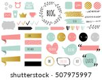blog design set with ribbons ... | Shutterstock .eps vector #507975997