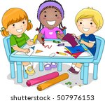illustration of a diverse group ... | Shutterstock .eps vector #507976153