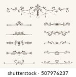 vector set of decorative... | Shutterstock .eps vector #507976237