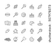 outline icons set   candy ... | Shutterstock .eps vector #507978373