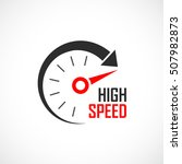 high speed logo vector... | Shutterstock .eps vector #507982873