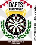 darts championship vector... | Shutterstock .eps vector #507983227