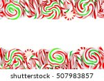 Christmas Candy Double Border...