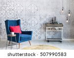 beautiful grey wall with... | Shutterstock . vector #507990583