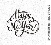 happy new year handwritten...