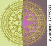 round oriental ornament card in ... | Shutterstock .eps vector #507997093