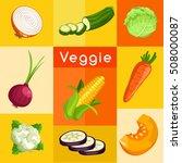 veggie lover elements   vector... | Shutterstock .eps vector #508000087