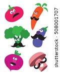 vegitables with mustache | Shutterstock .eps vector #508001707