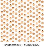 sufganiyot seamless pattern....   Shutterstock .eps vector #508001827