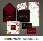 tony wedding invitation suite... | Shutterstock .eps vector #508008247