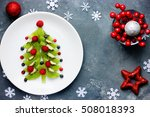 healthy christmas dessert snack ... | Shutterstock . vector #508018393