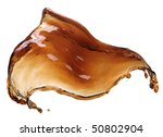 cola splash isolated on white | Shutterstock . vector #50802904