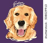 a vector illustration of golden ... | Shutterstock .eps vector #508029913