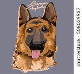 a vector illustration of german ... | Shutterstock .eps vector #508029937