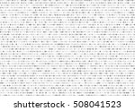 grey vector matrix background.... | Shutterstock .eps vector #508041523