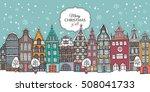 christmas card. european multi... | Shutterstock .eps vector #508041733