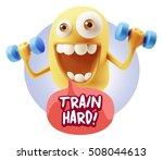 3d illustration gym fitness... | Shutterstock . vector #508044613