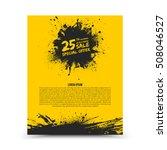 vector isolated yellow flyer... | Shutterstock .eps vector #508046527