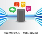 control artificial intelligence ... | Shutterstock .eps vector #508050733