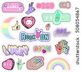 trendy patch badges with words... | Shutterstock .eps vector #508054867