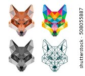 polygonal animal fox head... | Shutterstock .eps vector #508055887