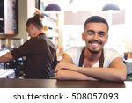 portrait of a delighted guy in... | Shutterstock . vector #508057093