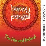 indian happy pongal. the... | Shutterstock .eps vector #508097743
