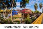 barranco  lima  peru  the old... | Shutterstock . vector #508105393