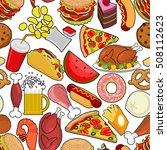 food seamless pattern. feed... | Shutterstock .eps vector #508112623