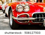 close up of headlights of red... | Shutterstock . vector #508127503