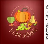 happy thanksgiving day elements ... | Shutterstock .eps vector #508132447