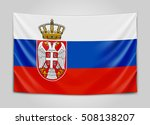 hanging flag of serbia.... | Shutterstock .eps vector #508138207