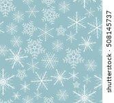christmas seamless background... | Shutterstock .eps vector #508145737