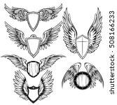 heraldic elements monochrome... | Shutterstock .eps vector #508166233