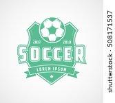 soccer emblem green flat icon... | Shutterstock .eps vector #508171537