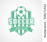 soccer emblem green flat icon... | Shutterstock .eps vector #508171543