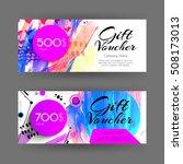 vector gift voucher with... | Shutterstock .eps vector #508173013