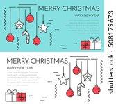 christmas horizontal banner...   Shutterstock .eps vector #508179673