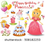 cute birthday design elements... | Shutterstock .eps vector #508182253