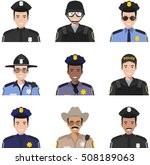 police people. set of colorful... | Shutterstock .eps vector #508189063