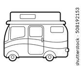 traveling camper van icon.... | Shutterstock . vector #508192153