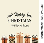 vintage christmas card with... | Shutterstock .eps vector #508198333