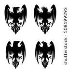 dark evil heraldic eagle with... | Shutterstock .eps vector #508199293