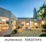 modern mediterranean home... | Shutterstock . vector #508207693